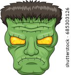 icon of the frankensteins head. ... | Shutterstock .eps vector #685303126