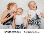 lifestyle portrait of cute... | Shutterstock . vector #685303213