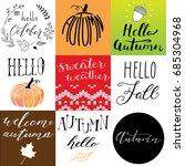 hand drawn autumn logos | Shutterstock .eps vector #685304968
