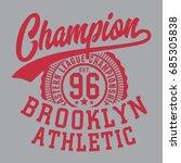brooklyn tee shirt graphics ... | Shutterstock .eps vector #685305838