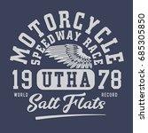 motorcycle tee design | Shutterstock .eps vector #685305850