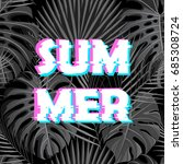 sign summer sale with distorted ... | Shutterstock . vector #685308724