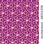texture of violet hearts on... | Shutterstock .eps vector #68531398