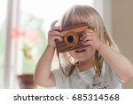 Small Child With Camera Taking...