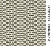 vector wavy line seamless... | Shutterstock .eps vector #685316164