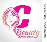 abstract letter c logo  beauty... | Shutterstock .eps vector #685321624