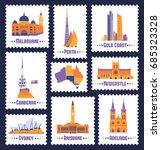 australian cities. icons of... | Shutterstock .eps vector #685323328