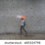 raindrop with a blur man... | Shutterstock . vector #685324798