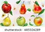 apples and pears of different...   Shutterstock .eps vector #685326289
