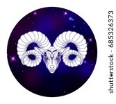 aries zodiac sign  horoscope... | Shutterstock .eps vector #685326373