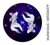pisces zodiac sign  horoscope...   Shutterstock .eps vector #685326379