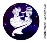 gemini zodiac sign  horoscope... | Shutterstock .eps vector #685326460