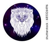 leo zodiac sign  horoscope...   Shutterstock .eps vector #685326496