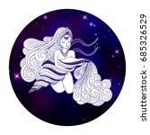 aquarius zodiac sign  horoscope ... | Shutterstock .eps vector #685326529