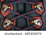 fastening of laces on boots for ... | Shutterstock . vector #685333474