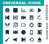 media icons set. collection of... | Shutterstock .eps vector #685335448