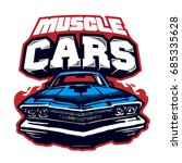 muscle car. logo. vector... | Shutterstock .eps vector #685335628