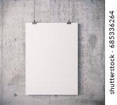 3d blank frame poster on... | Shutterstock . vector #685336264