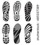 set  footprint sport shoes...   Shutterstock .eps vector #685337389