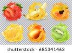 mango  banana  kiwi fruit ... | Shutterstock .eps vector #685341463