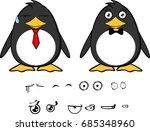 cute hipster penguin baby... | Shutterstock .eps vector #685348960