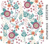 seamless pattern with cute... | Shutterstock .eps vector #685351996