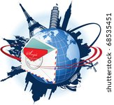global e mail concept. all...   Shutterstock .eps vector #68535451