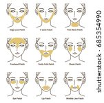 types of gold gel patch series. ...   Shutterstock .eps vector #685354990