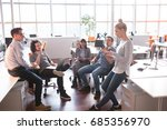 group of a young business... | Shutterstock . vector #685356970