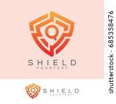 shield initial letter q logo... | Shutterstock .eps vector #685358476