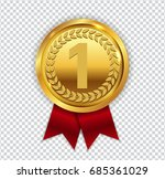 champion art golden medal with... | Shutterstock .eps vector #685361029