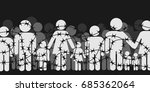 migrants and refugees are...   Shutterstock .eps vector #685362064