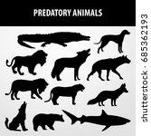 Predatory Animals Silhouette...