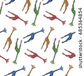 seamless pattern with... | Shutterstock .eps vector #685364854