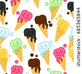 sweet seamless pattern with... | Shutterstock .eps vector #685365844