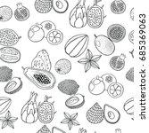 seamless hand drawn pattern... | Shutterstock . vector #685369063