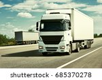 truck on road  blue sky  cargo... | Shutterstock . vector #685370278