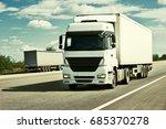 truck on road  blue sky  cargo... | Shutterstock . vector #685370278