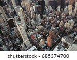 new york city buildings... | Shutterstock . vector #685374700