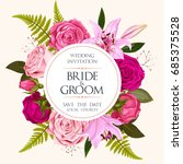 vintage wedding invitation | Shutterstock .eps vector #685375528