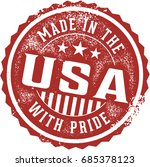 vintage made in the usa with... | Shutterstock .eps vector #685378123