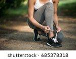 woman sport park | Shutterstock . vector #685378318