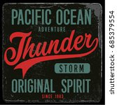 vintage nautical graphics and... | Shutterstock .eps vector #685379554