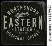 vintage nautical graphics and... | Shutterstock .eps vector #685379614