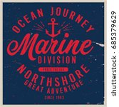 vintage nautical graphics and... | Shutterstock .eps vector #685379629