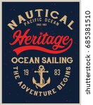 vintage nautical graphics and... | Shutterstock .eps vector #685381510