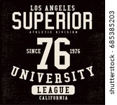 vintage varsity graphics and... | Shutterstock .eps vector #685385203
