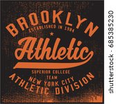 vintage varsity graphics and... | Shutterstock .eps vector #685385230