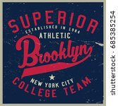 vintage varsity graphics and... | Shutterstock .eps vector #685385254