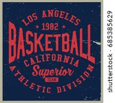 vintage varsity graphics and... | Shutterstock .eps vector #685385629